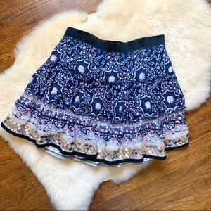 Free People Boho Mini skirt sequin trim